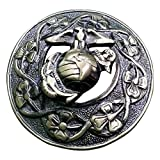 AAR Men,s US Marine Brooch Brass Kilt Fly Plaid Antique Finish S