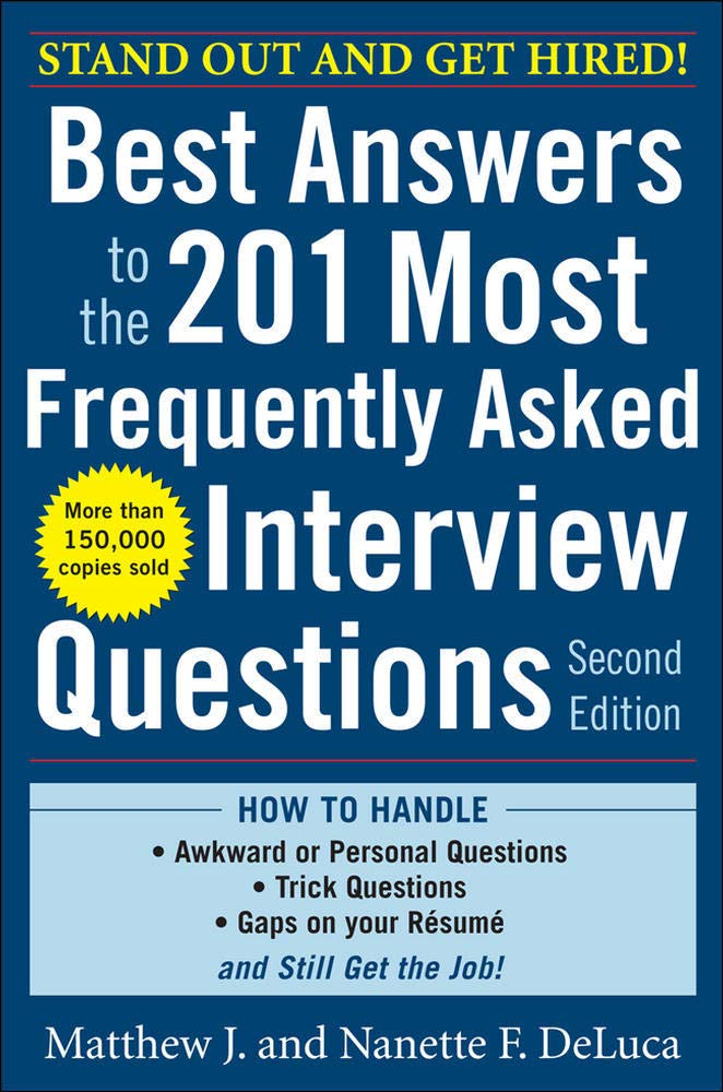 Image for Best Answers to the 201 Most Frequently Asked Interview Questions, Second Edition