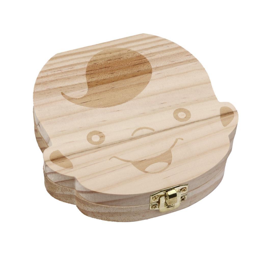 niceEshop(TM) Baby Wooden Teeth Save Box Milk Teeth Wood Case ...
