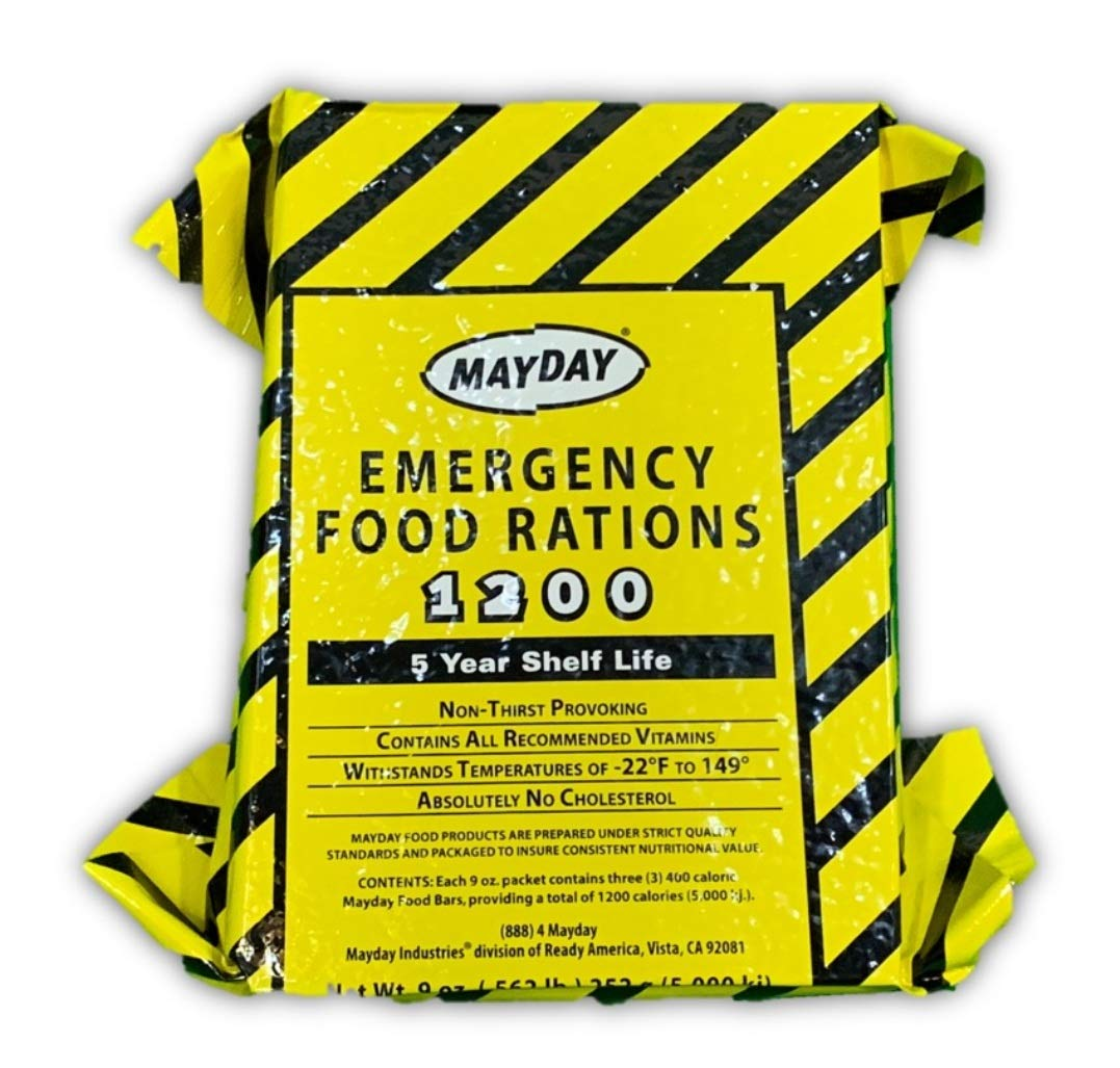 MAYDAY 1200-Calorie Emergency Food Rations with 5-Year Shelf Life (20)