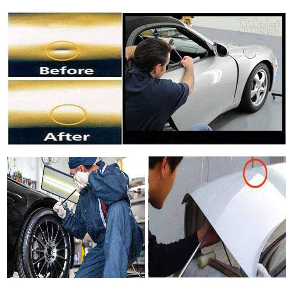 JMgist Rods Tools Paintless Dent Repair Kits with 8 Taper Head and S-Hook for Car Auto Body Dents Hail Damage Removal Set Stainless Steel Hands Tools by JMgist (Image #6)
