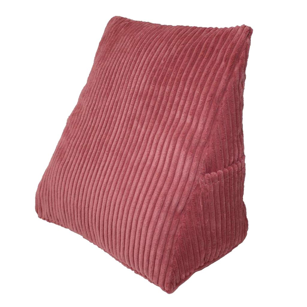 Pink Flameer Triangle Bed Wedge Cushion for Back Legs Rest Sofa Couch Reading Pillow for Adults Kids Pregnant Women