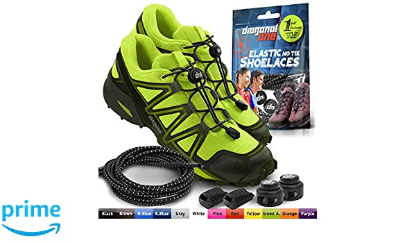 DIAGONAL ONE Elastic Shoe Laces for Men and Women, Compatible with Sneakers, Converse, Trainers, and Casual Footwear – No Tie Shoelaces Suitable for