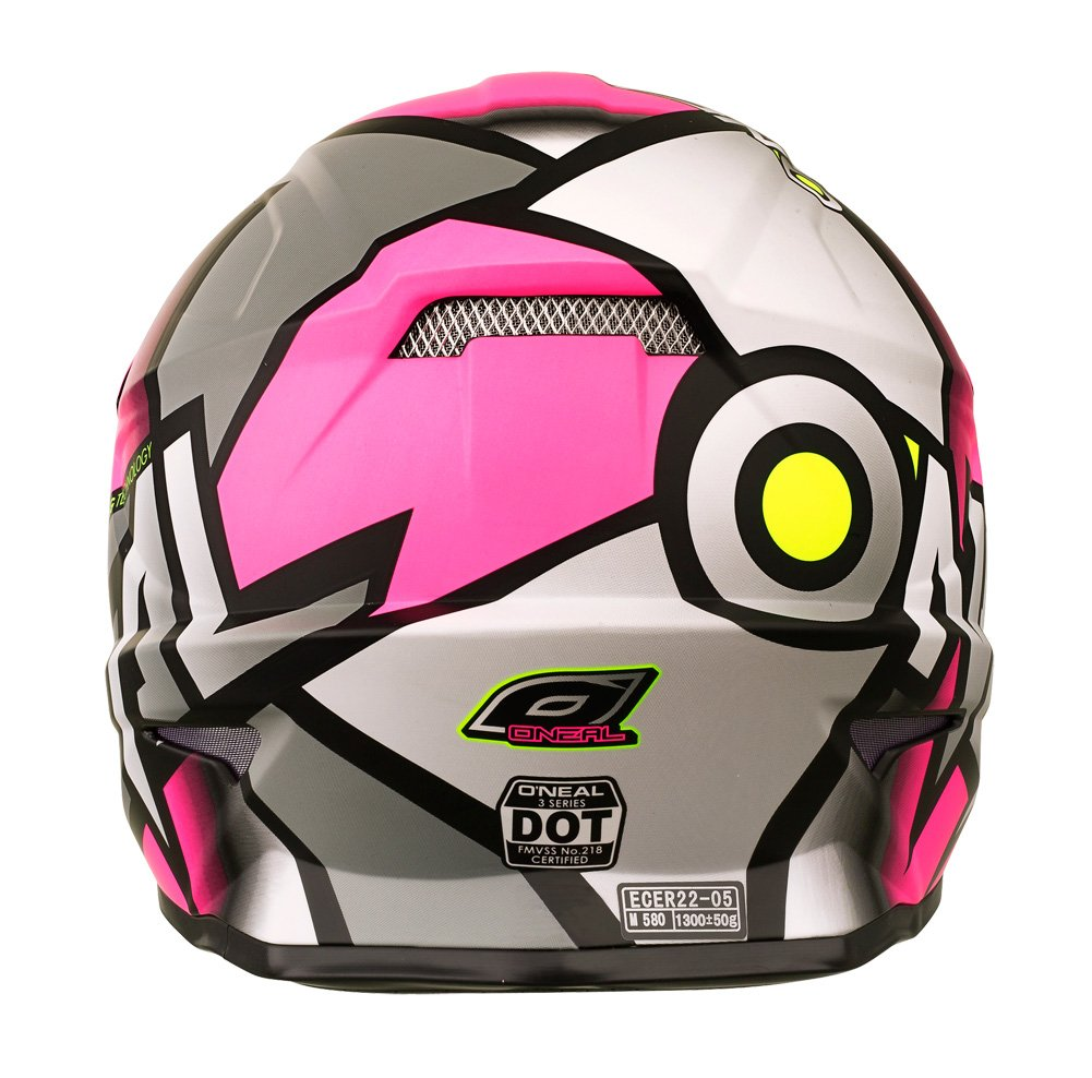 Amazon.com: ONeal 3 Series Womens Radium Helmet (Gray/Pink/Hi-Viz, Large): Automotive