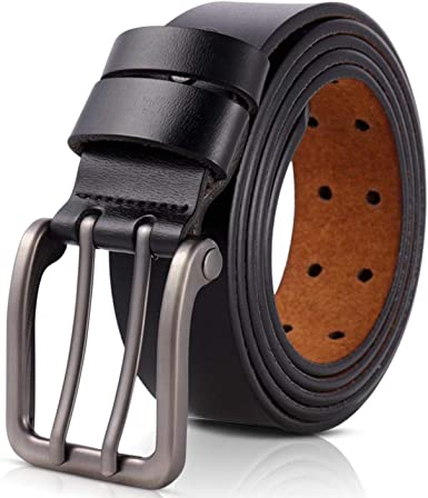 JIEJING Mens Belt,Pin Buckles Youth Belt Middle Age Leisure Simple Belt Stylish Wild Belt