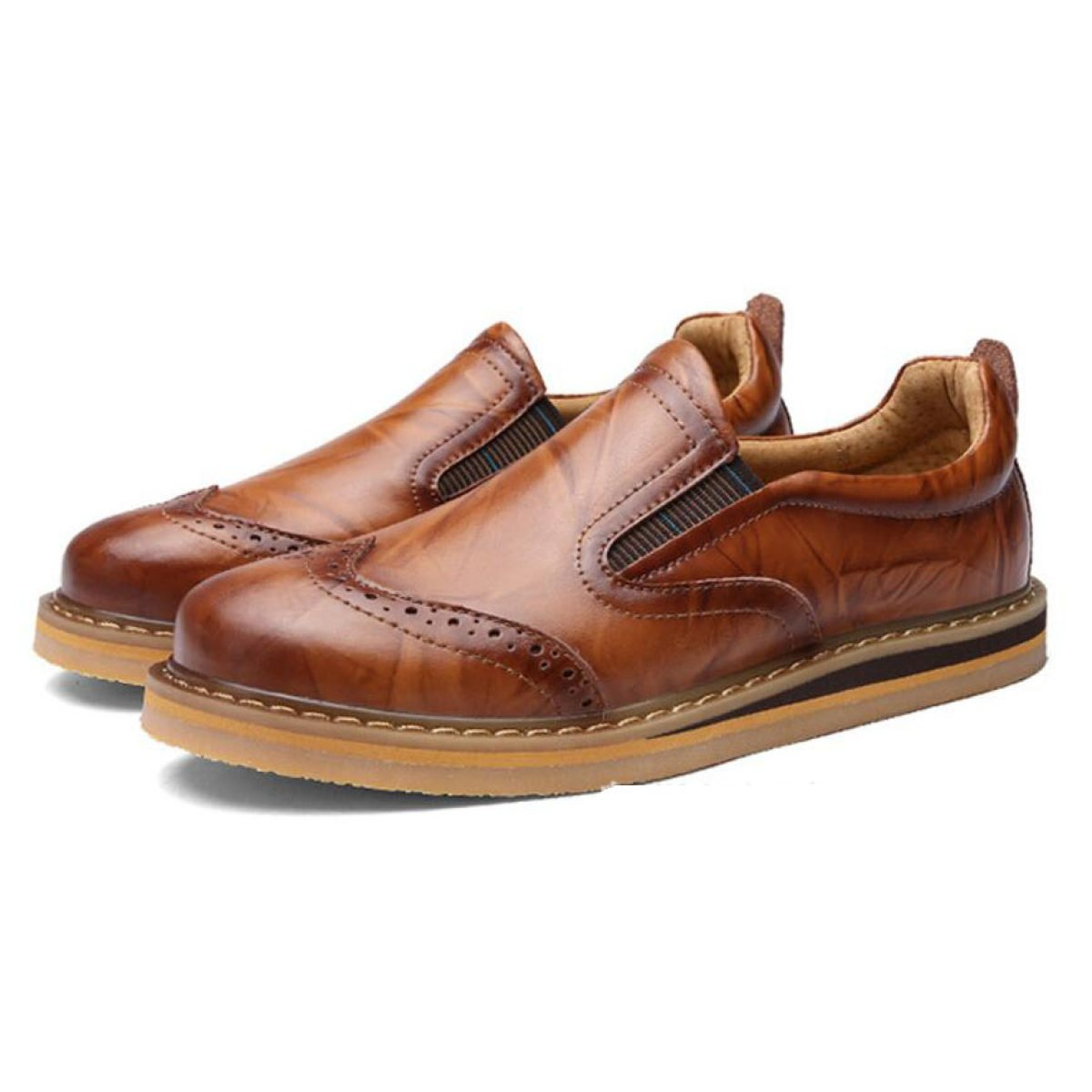 Herrenschuhe Geschnitzte Schuhe Schuhe Leder Männer Freizeitschuhe Niedrige Schuhe Schuhe Zu Helfen Schuhe Braun c2eca7