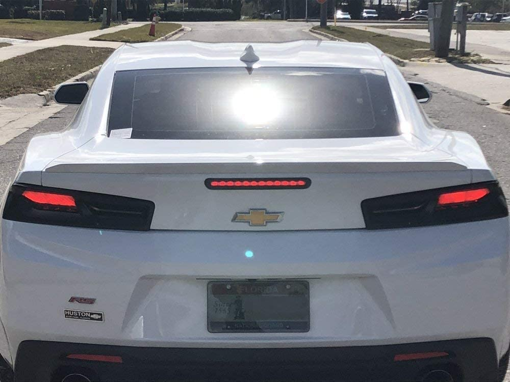 Smoked Acrylic Tail Light Covers Fits Gmbc-6200 2016-2018 Camaro Billet Custom