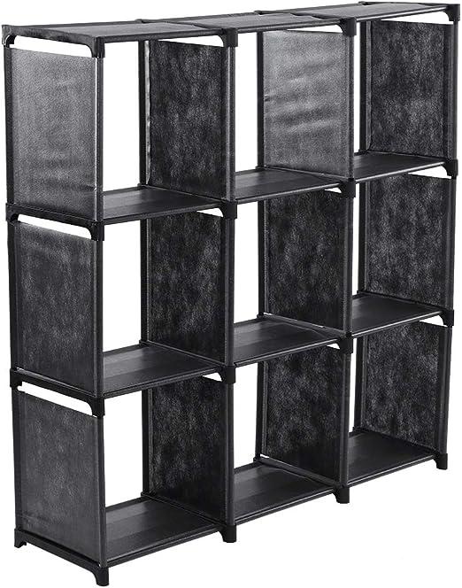 EBTOOLS Estantería de 9 Cubos de Tela, Librería de Compartimentos ...