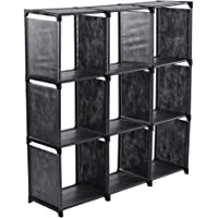Zerone Estantería Modular Cubos, Armario Modular con 9 Cubos para Oficina, Sala de Estar y Dormitorio, 106 x 109 x 30 cm