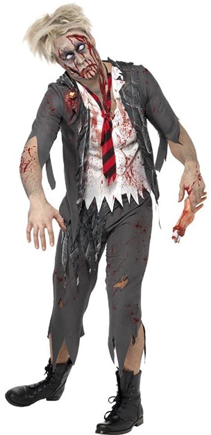 Halloween Disfraz de Macho Alta Escuela Horror Zombie Disfraz de ...