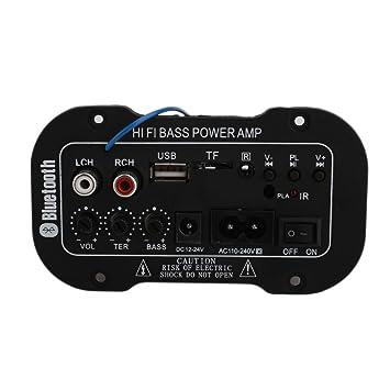 Beautyrain Amplificador de Potencia Amplificador de Audio portátil con Control Remoto 50W Música USB Control Remoto