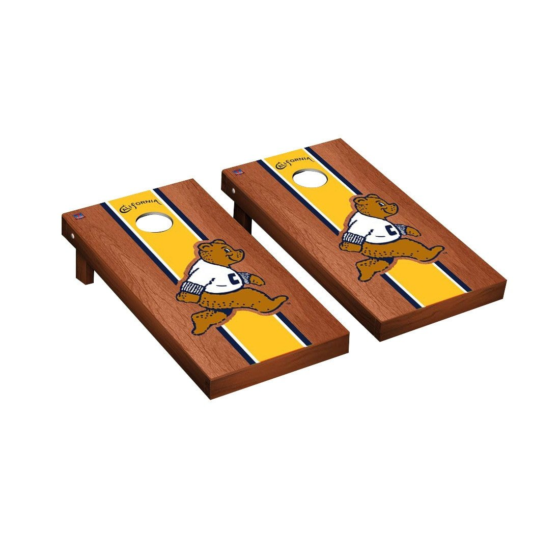 カレッジVault california-berkeley ゴールドen Bears Cornhole GameセットローズウッドStainedストライプバージョン