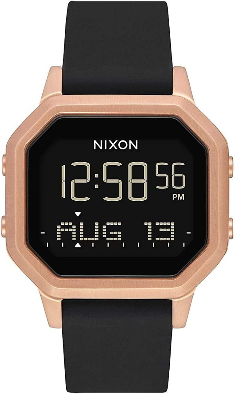 Nixon Siren SS Women s Water-Resistant Digital Watch 36mm. Ultra-Soft Silicone Band