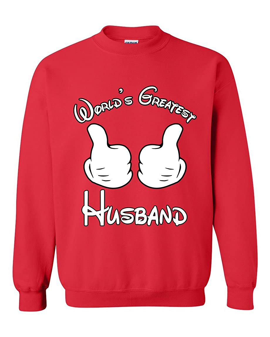 Worlds Greatest Husband Couples Valentines Day Gift Crewneck Sweater