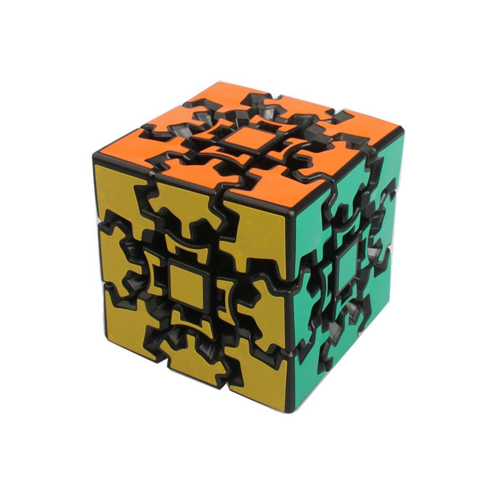 HJXDtech Blanco KSZ cl/ásico Cubo de 3x3x3 de Engranajes la Velocidad Pegatina Cubo m/ágico Irregulares