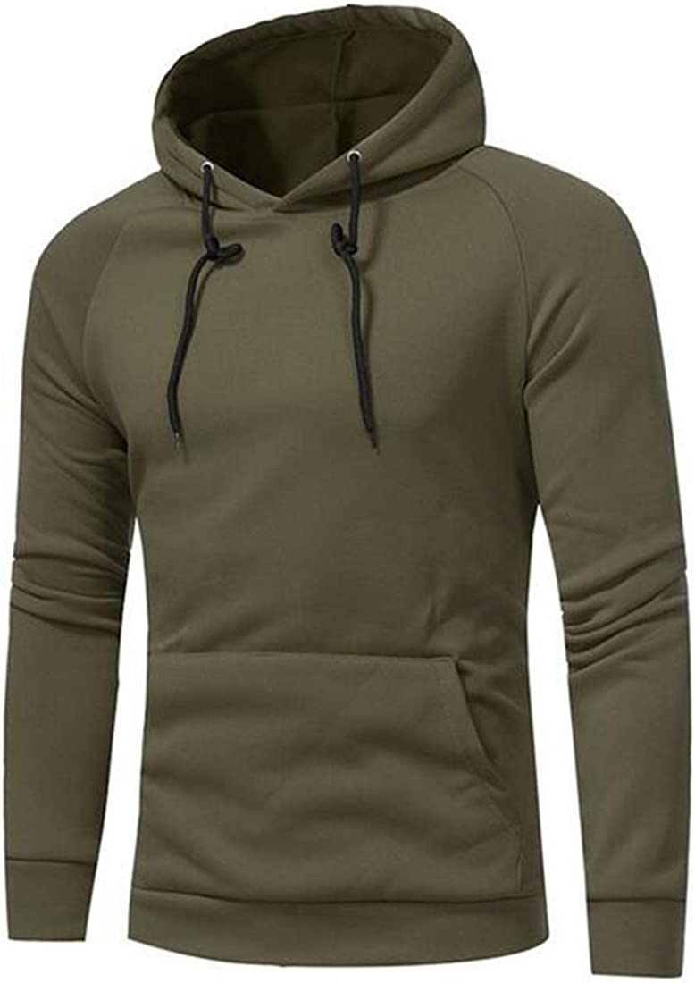 FRPE Men Slim Fit Patchwork Pure Color Hooded Tops Jacket Coat Outwear