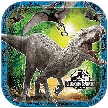 8 - Juego de platos * Jurassic World * para fiestas de ...