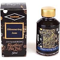 (Shimmering Seas) - Diamine - Shimmering Fountain Pen Ink, Shimmering Seas 50ml