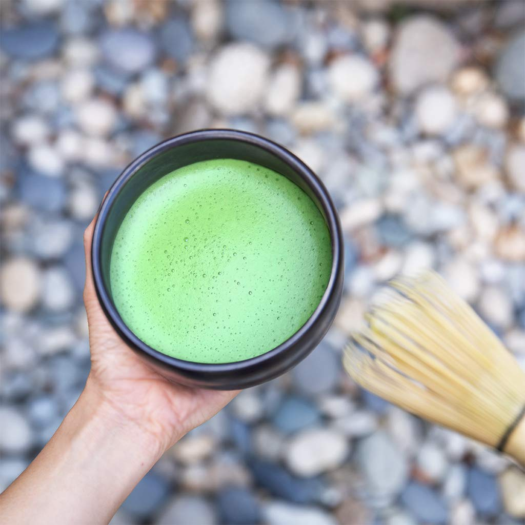 Encha Ceremonial Organic Matcha (USDA Organic Certificate and Antioxidant Content Listed, Premium First Harvest Directly from Farm in Uji, Japan, 60g/2.12oz in Resealable Pouch) by Encha (Image #3)