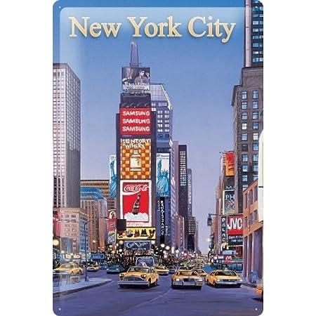 HiSign U.S. New York City Taxi Retro Cartel de Chapa Coffee ...