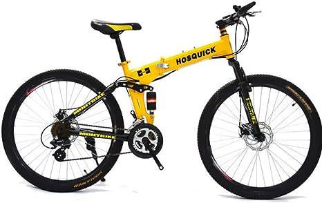 SYCHONG MTB Ruedas De Radios De Doble Suspensión Bicicleta Plegable 30 De Velocidad De Bicicletas MTB: Amazon.es: Deportes y aire libre