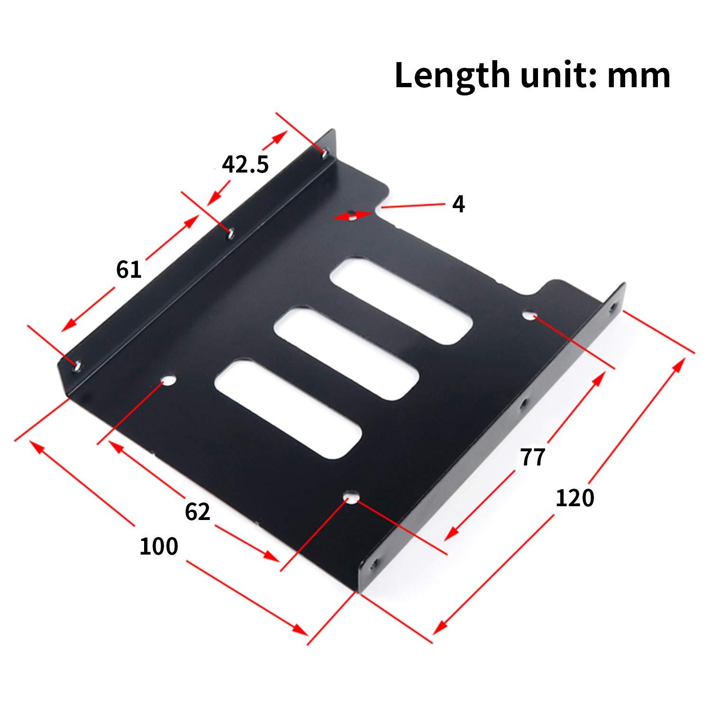 SAISN HDD/SSD Mounting Bracket, 2.5 to 3.5 Adapter, Hard Drive Holder (Single Drive, 2 Pack) by SAISN (Image #3)