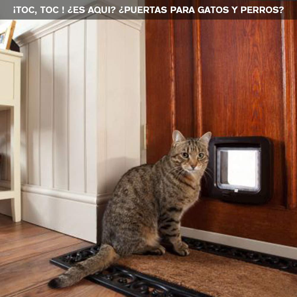 Puerta de Mascota, Colgajo de Gato, Colgajo de Gato Magnético de 4 Vías, Colgajo de Gato/Perro con Túnel- Fácil de Instalar: Amazon.es: Productos para ...