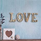 Decorative 4 Inch Country Rustic Exposed Wood LOVE Block Letters Sign