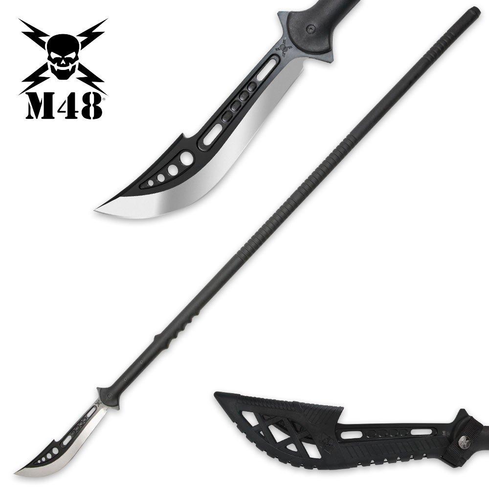United Cutlery M48 Naginata Polearm with Sheath, Black
