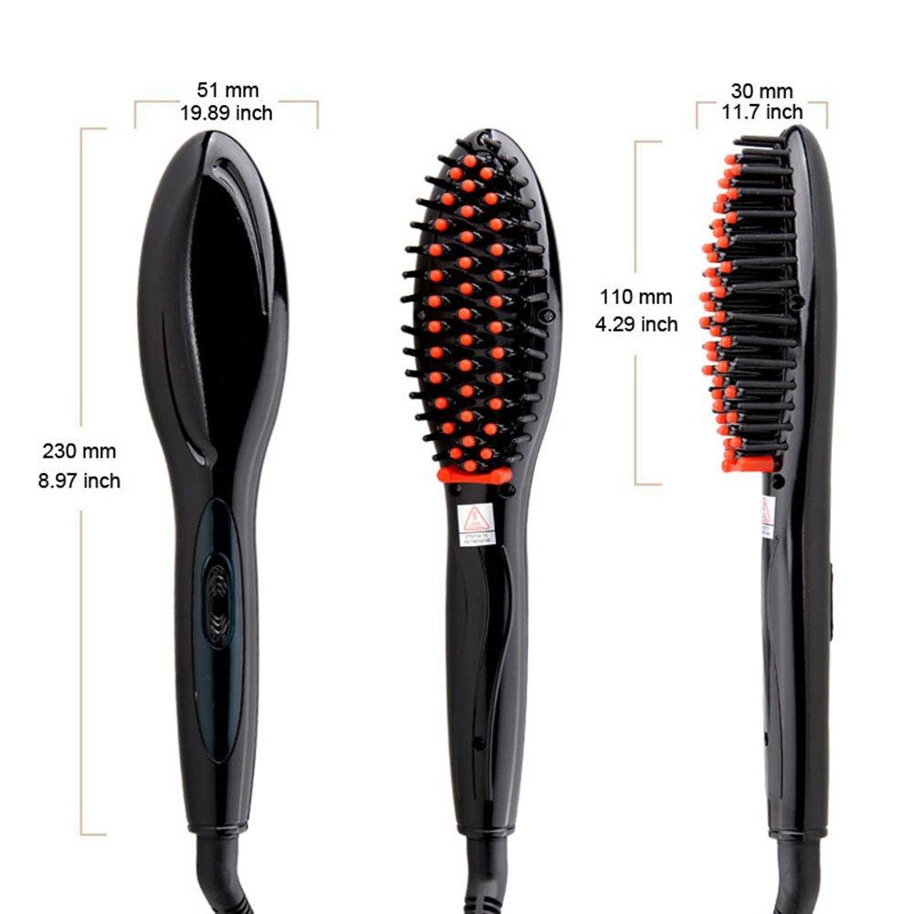 Cepillo Alisador de Pelo,AZXES,Cepillo Eléctrico Automático para Enderezar Pelo,Cepillo Eléctric con Pantalla LCDo (Negro): Amazon.es: Belleza