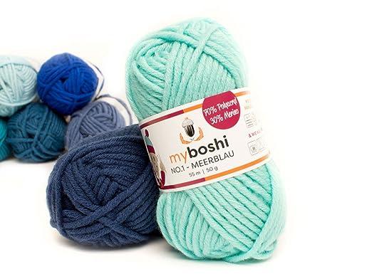 Myboshi 158 Meerblau Merino Wolleacrylgarn No 1 Zum Stricken