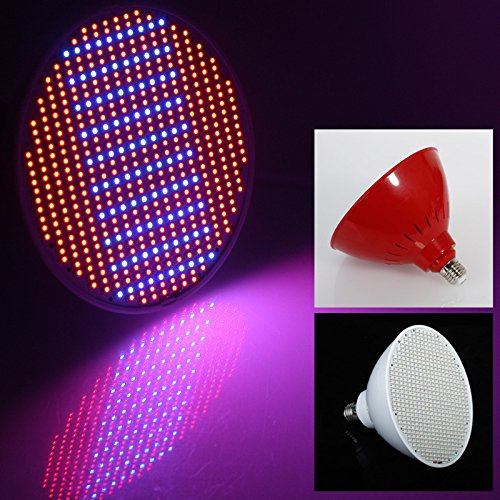 eSavebulbs LED Grow Light 50W E27 Grow Light Bulbs for Indoor Plants 500pcs 3528SMD Chips AC 85V~265V