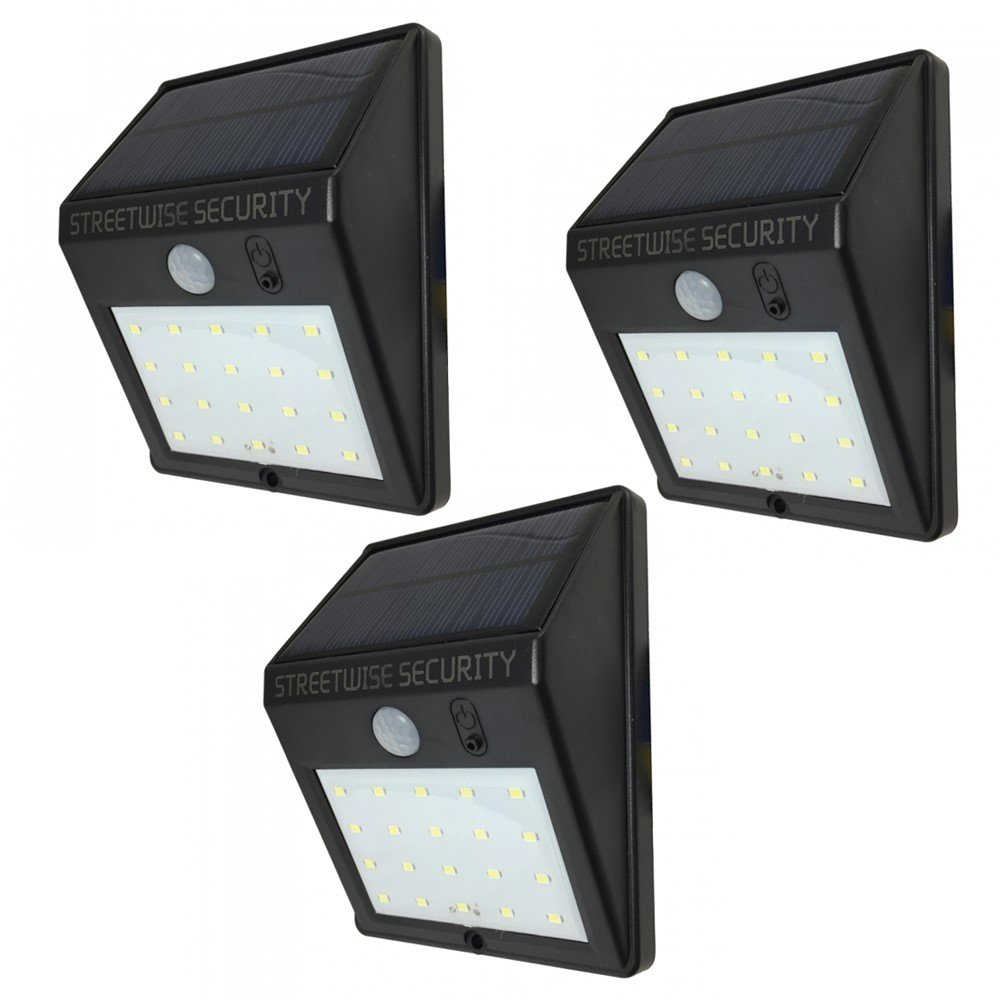 Streetwise Security Products SWSZSL20 Safe Zone Solar Motion LED Light (3 Solar Lights)