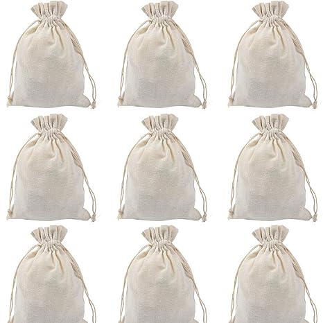Aofocy 24 Bolsas de algodón con cordón