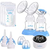 Electric Double Breast Pump Eccomum Breastfeeding Pump with 4 Modes & 9 Levels, Memory Function, BPA Free, Full Touchscreen L