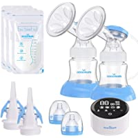 Electric Double Breast Pump Eccomum Breastfeeding Pump with 4 Modes & 9 Levels, Memory Function, BPA Free, Full…