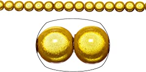 Miracle Beads, 6mm Round, Gold