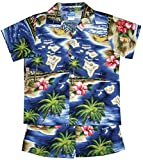 RJC Boys Hibiscus Hawaiian Island 2pc Set in Navy Blue - 12 Months