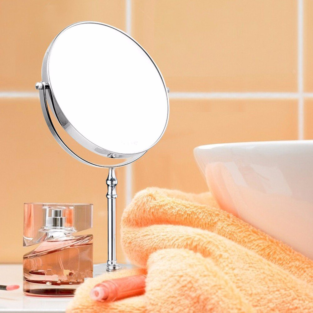 Double sided cosmetic mirrors shaving mirrors cosmetic-mirror copper 6-8 dressing table mirror mirror mirror 6-inch Desktop mirror