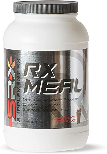 Supplement Rx SRX – Rx Meal Protein Chocolate Milkshake, Lean Whey Protein Powder Complete Meal Replacement Shakes for Weight Loss, Fiber, Keto Shake, 0 Carb, Low Sugar, 30 Servings