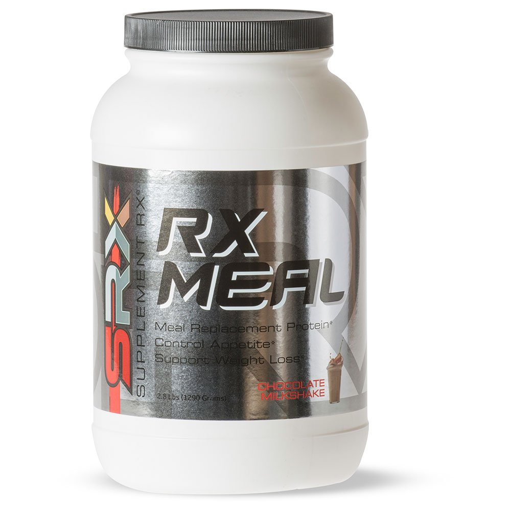 Supplement Rx (SRX) - Rx Meal Protein Chocolate Milkshake, Lean Whey Protein Powder Complete Meal Replacement Shakes for Weight Loss, Fiber, Keto Shake, 0 Carb, Low Sugar, 30 Servings by SupplementRx