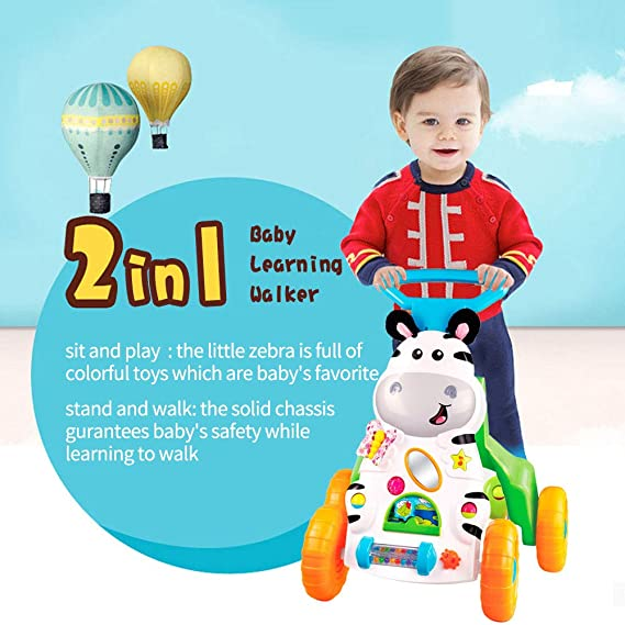 LBLA Baby Sit-to-Stand Learning Walker,Kids Activity Center,Learn with Me Walker with Music