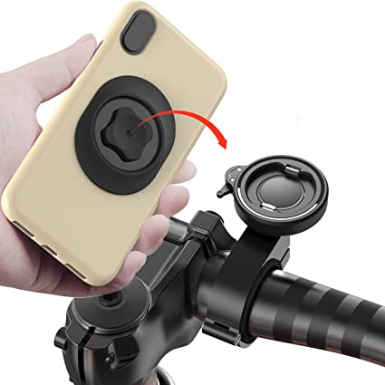 Motorcycle Bike Bicycle Cell Phone Holder Mount Handlebar Aluminum GPS Universal