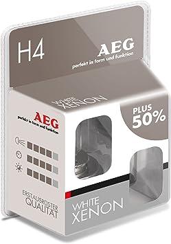 Aeg Automotive 97260 Glühlampe Weiß H4 60 55 W 2 Er Set Auto