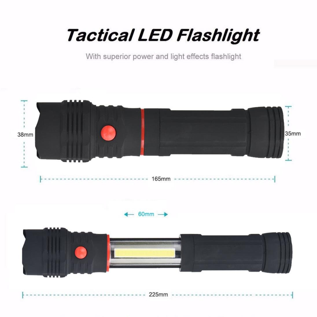 Led Flashlights Latest Collection Of Led Lamp Soft Touch Switch 2017 1200lm Cob Led Magnetic End Black Work Light Inspection Flashlight Lamp Torch