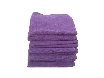 """5 Beautful morado toallas de microfibra de 16 """"x 16""""-300 G"""