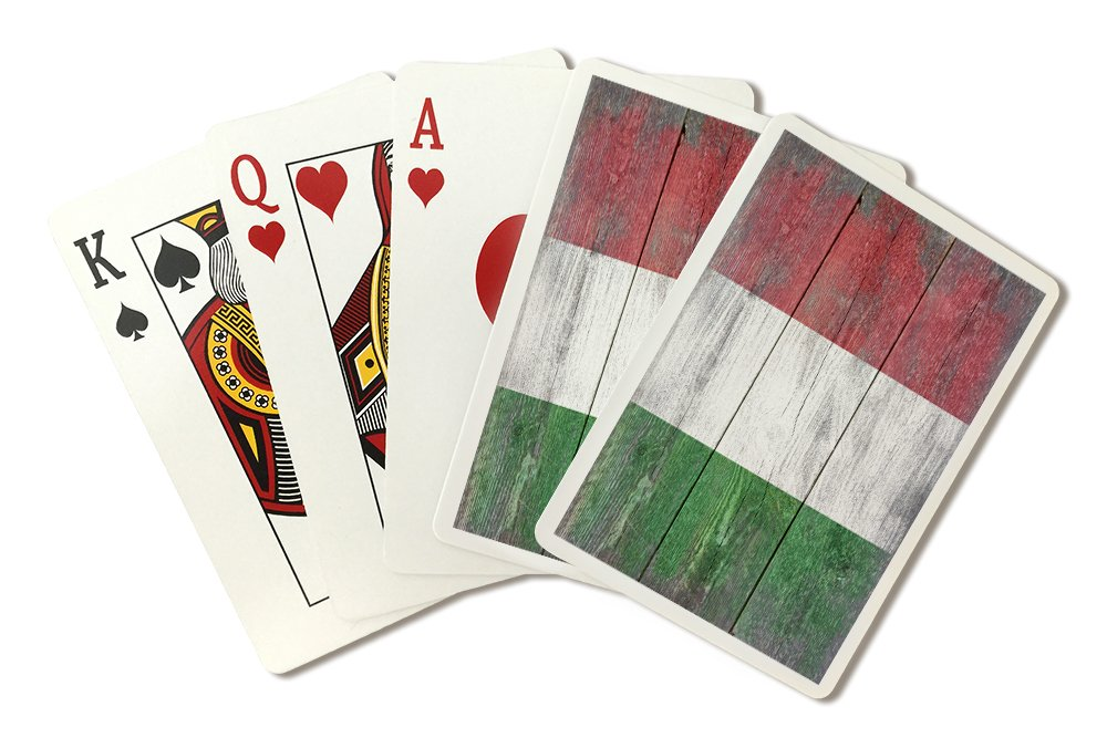 Rustic Italy Country Flag (Playing Card Deck - 52 Card Poker Size with Jokers)