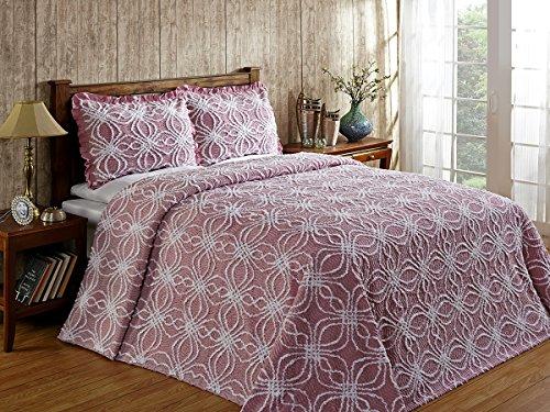 Better Trends / Pan Overseas 96 X 110 Inch Rosa Bedspread, Full, Pink ()