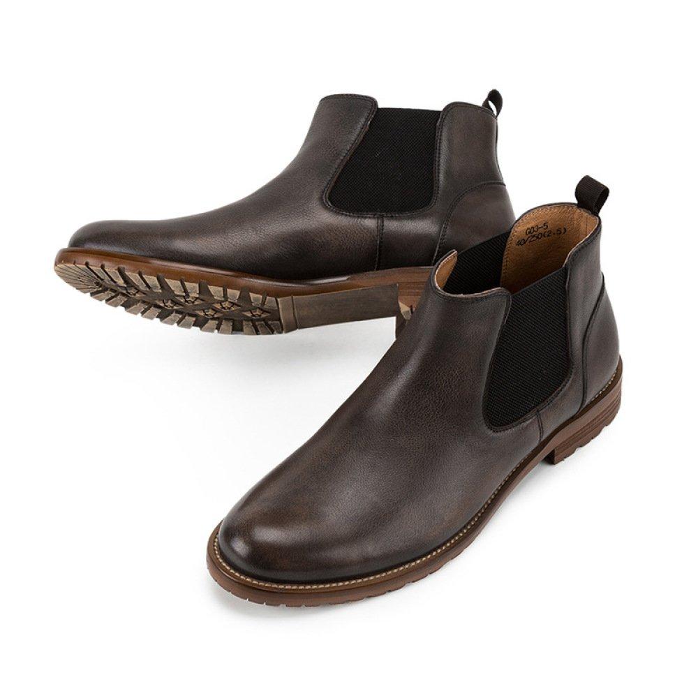 GTYMFH Herbst High Top Stiefelies Herrenstiefel Chelsea-Stiefel Lederstiefel Echtes Leder Lederstiefel Chelsea-Stiefel e3b45c
