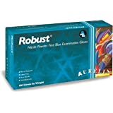 "Aurelia Robust Nitrile Glove, Powder Free, 9.4"" Length, 5 mils Thick, Small (Pack of 100)"